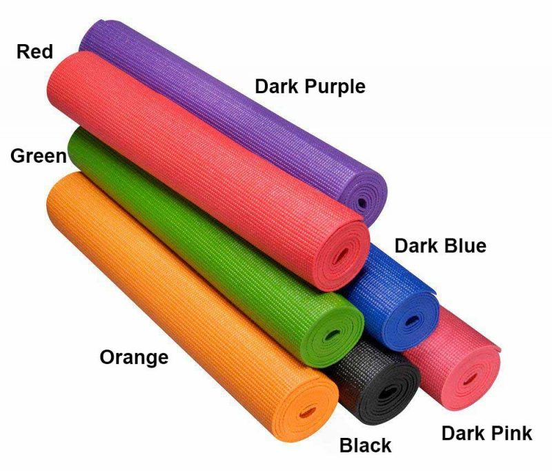 assorted yoga mats colours