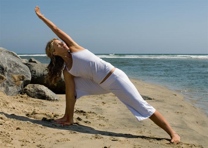 triangle pose for hot yoga