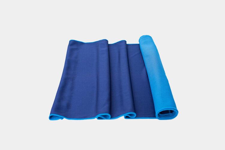 blue yoga mat towel