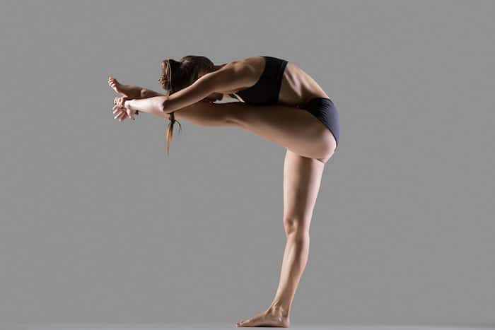 standing head to knee pose