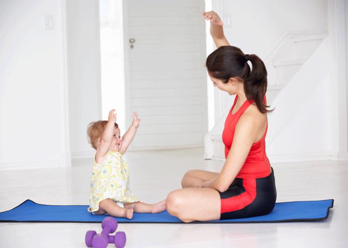 baby and mom yoga
